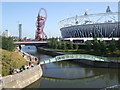 TQ3784 : River Lea near Olympic Stadium by Paul Gillett