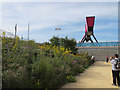 TQ3784 : Flower beds in Olympic Park by David Hawgood