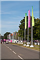 TQ4377 : Flags, London 2012 shooting venue  by Ian Capper