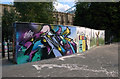 TQ2990 : Graffiti wall, Alexandra Park by Julian Osley