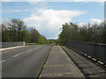 SP2086 : Packington Lane crosses M6 looking south  by Robin Stott