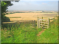 SK9859 : Field entrance with a view west of Boothby Graffoe by Trevor Rickard