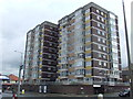 SD4565 : Flats on the seafront at Bare near Morecambe by Malc McDonald