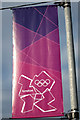 TQ6503 : Olympic banner, Richmond Road by Oast House Archive