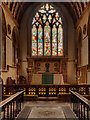 TQ1649 : St Martin's Dorking, Chancel, Altar and East Window by David Dixon