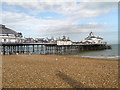 TV6198 : Shingle Beach and Victorian Pier, Eastbourne by David Dixon