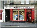 NT2573 : Armstrong's Emporium in the Grassmarket by kim traynor