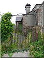 NY2149 : Gate to former chapel by Rose and Trev Clough