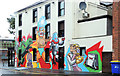 J3372 : Bar mural, Belfast by Albert Bridge