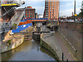 SJ8397 : Deansgate Locks, Rochdale Canal by David Dixon