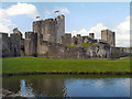 ST1587 : Caerphilly Castle and North Lake by David Dixon