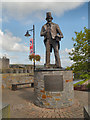 ST1586 : Tommy Cooper Statue at Caerphilly by David Dixon