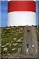 SV9416 : Trig Point by St Martin's Daymark by David Lally