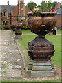SK7755 : Urns on the terrace at Kelham Hall  by Alan Murray-Rust