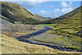 SN8074 : The Afon Ystwyth passing the mines by Nigel Brown
