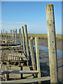 TG0044 : Wooden jetties, Morston Quay by Pauline Eccles