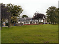 SJ9587 : Recreation Ground and The Crown, Hawk Green by David Dixon