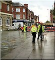 SJ9494 : New Paving outside HSBC Bank by Gerald England