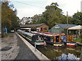 SJ9483 : Macclesfield Canal, Boatyard at Higher Poynton by David Dixon