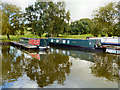 SJ9483 : Higher Poynton Moorings, Macclesfield Canal by David Dixon