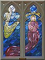 TQ2781 : St John, Hyde Park Crescent - Stained glass window by John Salmon