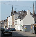 SO5012 : Two distant spires viewed from St Mary Street, Monmouth by John Grayson