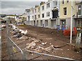 SX9372 : Flood protection works, Teign View Place by Robin Stott