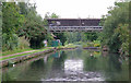SP0989 : Grand Union Canal by Star City, Birmingham by Roger  Kidd