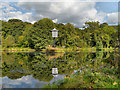 SJ9786 : Strines Recreation Ground Fishing Lodge by David Dixon