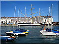SY6878 : Tall Ship, Weymouth Quay by Roy Hughes