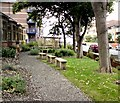 SD3228 : St Annes Library side garden by Gerald England