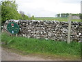 NY4924 : Drystone  Wall  at  track  lane  junction by Martin Dawes