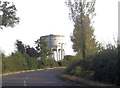 SP8129 : Mursley water tower from Whaddon Road by John Firth
