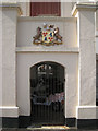 SX9472 : Devon's coat of arms, Devon House, Esplanade by Robin Stott