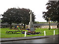 NO1040 : Spittalfield War Memorial, situated on the village green by jim and liz denham