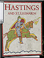 TQ7813 : Hastings and St. Leonards sign, A2100 Battle Road by Oast House Archive