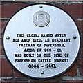 Photo of Faversham Cattle Market white plaque