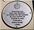 Photo of Thomas Waller white plaque