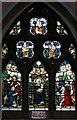 TQ5188 : St Edward the Confessor, Market Place, Romford - Stained glass window by John Salmon