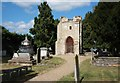 TQ3975 : St Margaret's Old Tower &amp; Churchyard by John Salmon