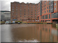 SJ8498 : Railway Warehouse and Ashton Canal Basin by David Dixon