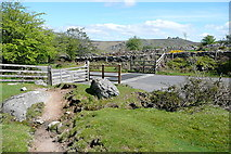 SX7377 : Cattle grid on Holwell Down by Graham Horn