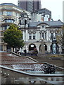 SP0686 : City centre steps and water feature by Victoria Square by Andrew Hill