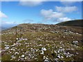 NN6551 : Fence on the east ridge of Meall Garbh by Richard Law