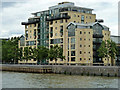 TQ3778 : Riverside flats, Burrells Wharf by Robin Webster