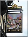 SO8555 : Bridge Inn (2) - sign, Lowesmoor Terrace, Worcester by P L Chadwick