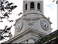 TQ3877 : Clock of St Alfege church, Greenwich by Stephen Craven