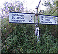 TM3482 : Roadsign on Mill Road, All Saints by Adrian Cable