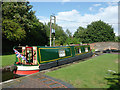 SP1592 : Narrowboat in Minworth Bottom Lock, Birmingham by Roger  Kidd