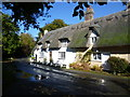 TL2379 : Thatched cottages in Wennington by Ian Yarham